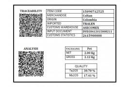 Tantalum 2 kilos container Pet 25