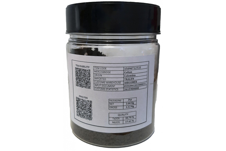 Tantalum 2 kilos container Pet 21